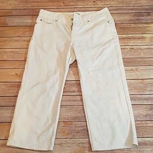LL Bean white denim sz 10